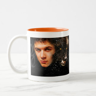 Walking Wolf Road - Two-Tone Mug