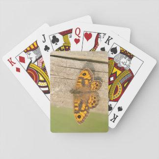 Wall Brown Butterfly Poker Deck