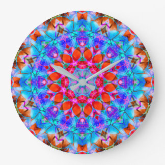 Wall Clock Kaleidoscope Diamond Flower G408