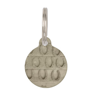 Wall of Horse Shoes Pet ID Tag