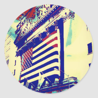 Wall Street Art Classic Round Sticker