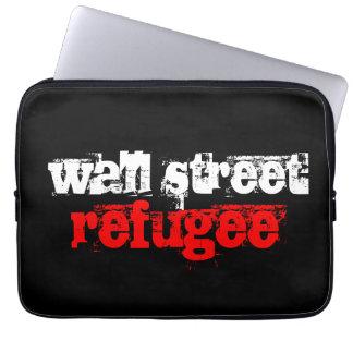 wall street refugee laptop sleeve