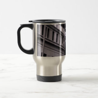 Wall Street travel mug