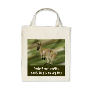 Wallaby Habitat Organic Grocery Tote Tote Bags