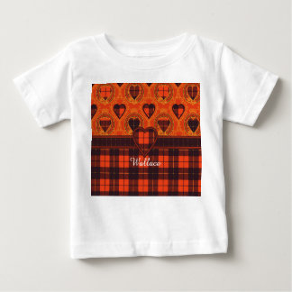 Wallace clan Plaid Scottish tartan Baby T-Shirt