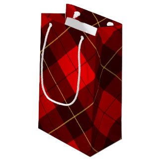 Wallace tartan background small gift bag