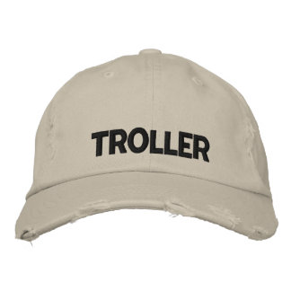 Walleye Fishing Troller Embroidered Baseball Cap