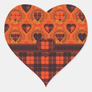 Wallis clan Plaid Scottish tartan Heart Sticker