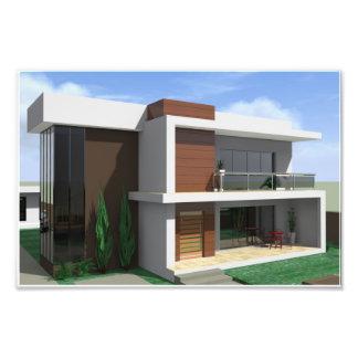 Wallpaper 3d home design photo print