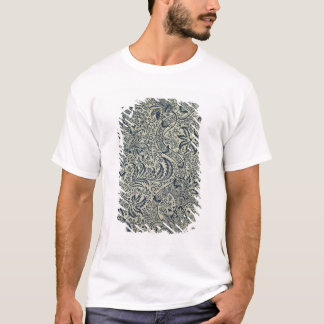 Wallpaper with navy blue seaweed style design T-Shirt