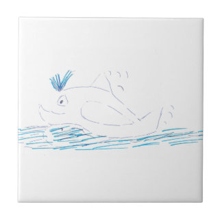Wally Whale Ceramic Tile