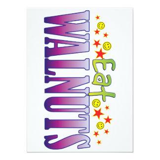 Walnuts Eat 14 Cm X 19 Cm Invitation Card