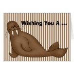 Walrus Birthday Card