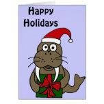 Walrus Christmas Card