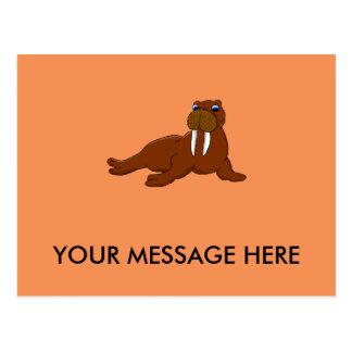 Walrus design matching stationery postcard