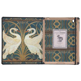 Walter Crane Swan, Rush And Iris Covers For iPad