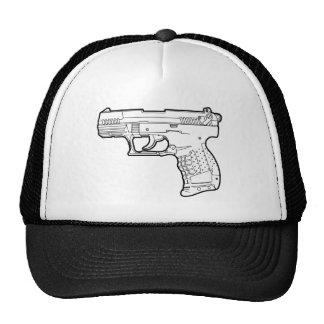 walter p22 gun firearm stencil graphic t-shirt cap