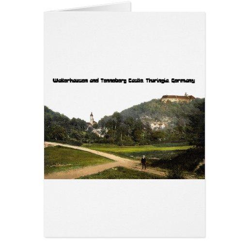 Walterhausen and Tenneberg Castle, Germany Greeting Card