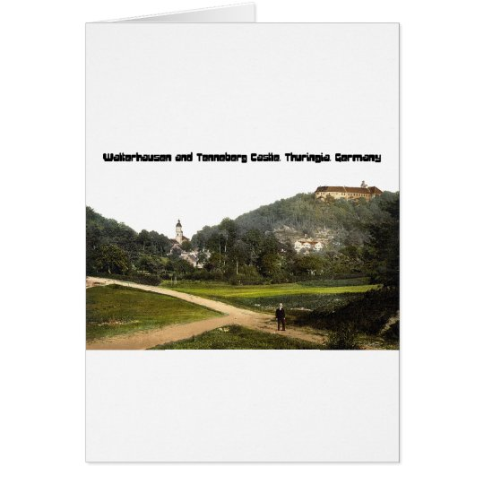 Walterhausen and Tenneberg Castle, Germany Greeting Card