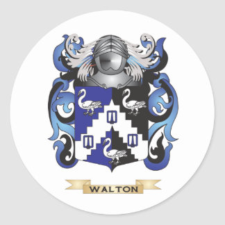 Walton Family Crest (Coat of Arms) Round Sticker