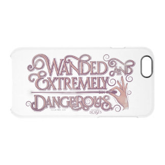 Wanded And Extremely Dangerous Graphic - Pink Clear iPhone 6/6S Case