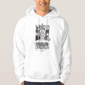 Wanded & Extremely Dangerous Wanted Poster - Black Hoodie