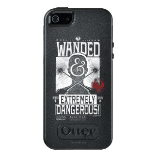 Wanded & Extremely Dangerous Wanted Poster - White OtterBox iPhone 5/5s/SE Case