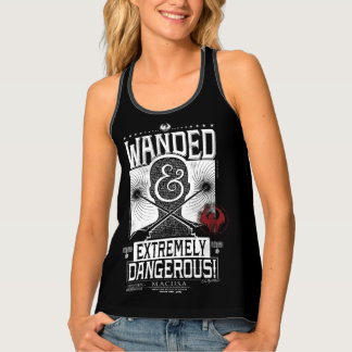 Wanded & Extremely Dangerous Wanted Poster - White Singlet