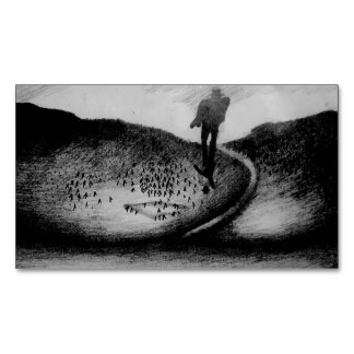 Wandering Man Magnetic Business Cards