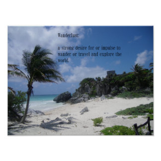 Wanderlust travel quote poster