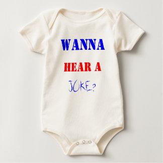 WANNA, HEAR A, JOKE? BABY BODYSUIT