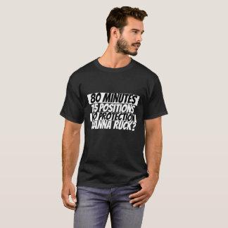 Wanna Ruck Rugby Humor Black White T-Shirt