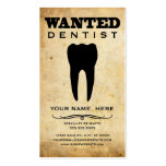 wanted : dentist business cards