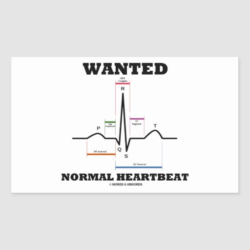 Wanted Normal Hearbeat (ECG/EKG Electrocardiogram) Sticker