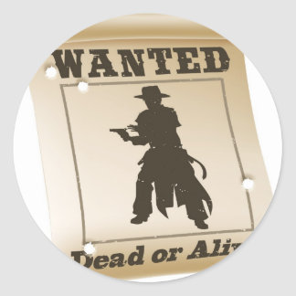 Wanted poster illustration stickers