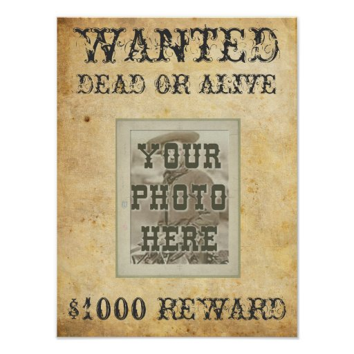 wanted poster print zazzle