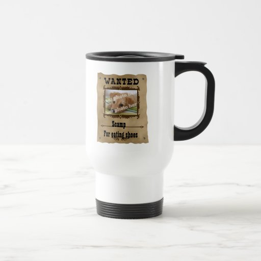 Wanted Wild West Poster Pet Custom Photo Template Mug