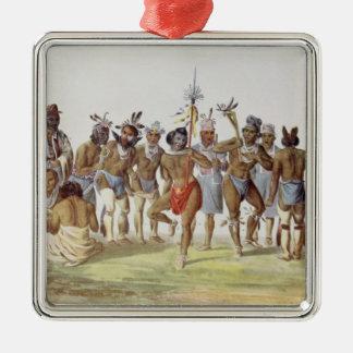 War Dance of the Sauks and Foxes Christmas Ornament