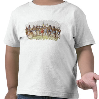 War Dance of the Sauks and Foxes T-shirts