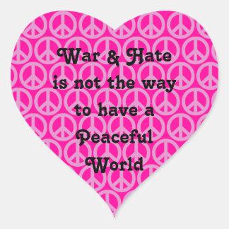 War/Hate vs Peace Sticker