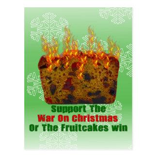 War On Fruitcakes Postcard