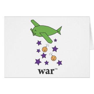 War(TM) Green Bomber Plane Card