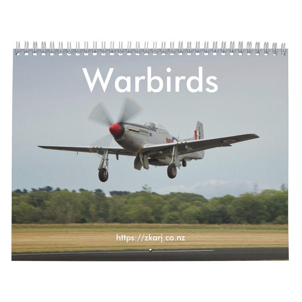 Warbirds — ZK-ARJ (medium, 2-page month) Calendar