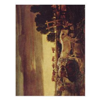 Ward James Regent s Park Viehherde 1807 Techniqu Postcard