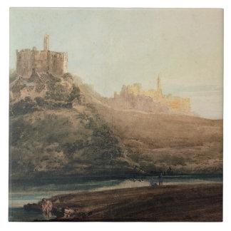 Warkworth Castle, Northumberland, c.1798 (w/c, gou Tile