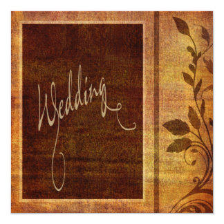 Warm Autumn Romance Affordable Wedding Card