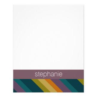 Warm Autumn Striped Pattern Custom Name 11.5 Cm X 14 Cm Flyer