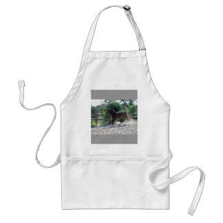 Warm blood -free lunge standard apron