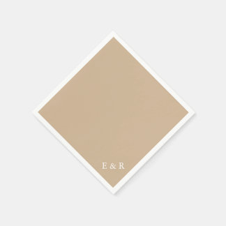 Warm Brown Sand - Spring 2018 London Fashion Trend Disposable Napkins