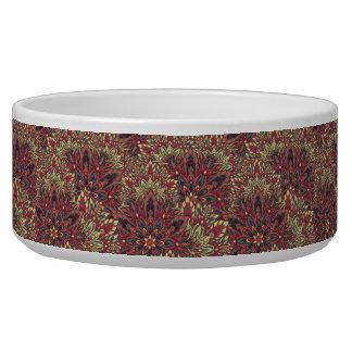 Warm color mandala pattern.